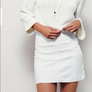 Free people white mini skirt